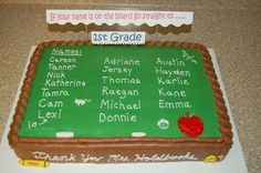 for my sons kindergarten graduation. got the idea from many other cakecentral postings! thanks all! covered in chocolate butter cream.