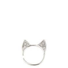 <P>These are the most perfect cartilage earrings you can find. Perfect for cat lovers, this silver crystal cartilage earring has cat ears to show off your feline pride. </P><UL><LI>18G/1.0mm </LI><LI>For cartilage piercings </LI></UL>