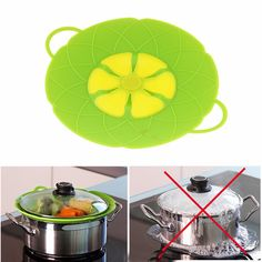 Creative design kitchen Pot Pan Silicone lid cover anti Spill Cooking Tools /Flower Cookware Parts splashing Stopper