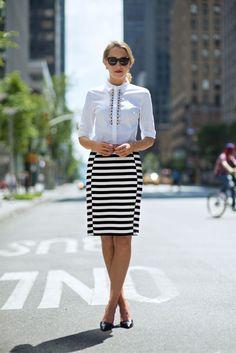 Weiße Bluse kombinieren fürs Büro