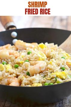 Shrimp Fried Riceis an easy one-pot meal with your favorite Asian flavors. Chock-full of shrimp, green peas, and fluffy eggs, it's hearty, delicious and the best use for leftover rice! Plus helpful tips on how to make it perfectly anytime, every time! Crab Recipes, Salmon Recipes, Rice Recipes, Beans Recipes, Asian Recipes, Savoury Recipes, Chinese Recipes, Copycat Recipes, Best Dinner Recipes