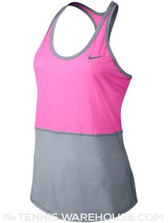 Nike Women's Spring Dri-Fit Touch Tennis Tank in Pink