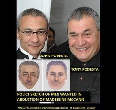 Why Do Podesta and His Brother Look So Much Like the Suspect Drawings in the Madeleine McCann Disappearance Case?