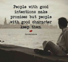 People with good intentions....