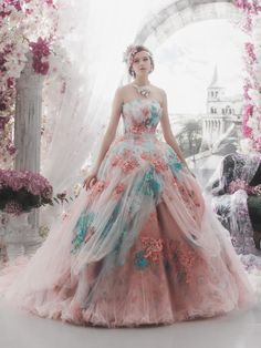 Ideas Fashion Photography Pastel Wedding Dresses For 2019 Pastel Wedding Dresses, Bridal Dresses, Colorful Prom Dresses, Pastel Dresses, Pastel Outfit, Bridal Gown, Wedding Gowns, Moda Lolita, Fantasy Gowns