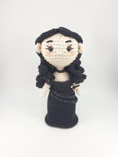 Crochet amigurumi pattern inspired by Yennefer of Vengerberg from The Witcher game/tv series. The pattern is available as a standalone pattern, or as an eBook collection with matching Geralt, Jaskier and Ciri patterns Art Patterns, Pattern Art, The Witcher Game, Yennefer Of Vengerberg, Ciri, Crochet Patterns Amigurumi, Crochet Designs, Tv Series, Teddy Bear