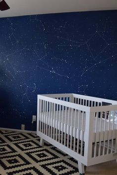This Dad Transformed His Baby's Room Into an Amazing Galaxy Baby Bedroom, Baby Boy Rooms, Baby Room Decor, Kids Bedroom, Bedroom Decor, Room Baby, Wall Decor, Galaxy Nursery, Galaxy Bedroom