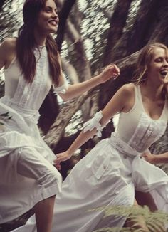 Australian Actresses Teresa Palmer and Phoebe Tonkin in 'Picnic at Hanging Rock' Inspired Editorial for Vogue Australia March 2015, Photographed by Will Davidson and Styled by Christine Centenera.