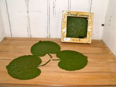 Vintage Plastic Durel Leaf Coasters by RevivalBancroft on Etsy, $12.00