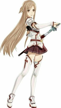 Asuna (with less camera exposure? color saturation?, it seems) — SAO (the first arcs)
