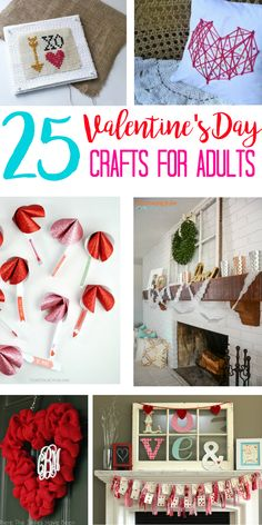 Valentine's Day Crafts for adults let everyone get in on the DIY holiday decoration fun. Cute ideas for candy jars, wreaths, bath bombs --  how to make gifts for friends, for kids, for teens, for school, for him, or yourself! Valentine Day crafts are so much fun! #Valentinecrafts #ValentinesDayCrafts via @eatmovemake