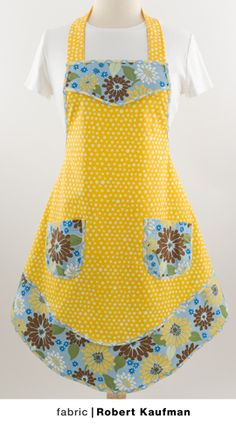 Waist Apron Pattern | Patterns Gallery.  Links to free apron patterns from this site
