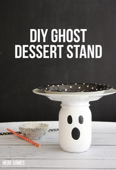 Ghost Dessert Stand...what a cute idea for a Halloween party!