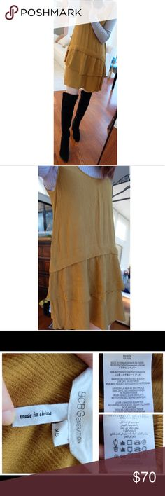 "BCBGengeration Low Back Dress SZ XS BCBGengeration Mustard Yellow Low Back Dress SZ XS.  31"" lengths. Great condition. BCBGeneration Dresses Mini"