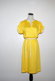 Vintage Yellow Sunshine Dress by CheekyVintageCloset on Etsy, $24.00