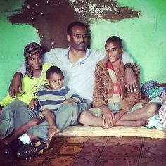 Our leader Aschalew Abebe with a local family. #ethiopia #lovehope