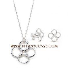 Tiffany co elsa peretti qurdrifoglio pendant necklace tiffany elsa peretti quadrifoglio pendant necklace and earrings settiffany set mozeypictures Gallery