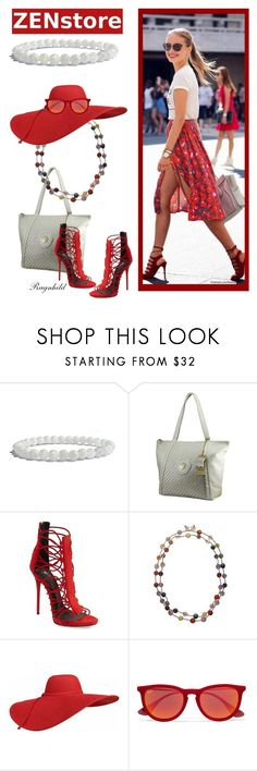 """Bracelet from Zenstore Contest"" by ragnh-mjos ❤ liked on Polyvore featuring Giuseppe Zanotti and Ray-Ban"