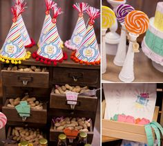 Vintage carnival birthday party theme. AMAZING. So want to do this.