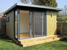 3.2x3m garden office with graphite sliding door set & corner window, from £9,995 (inc. VAT)