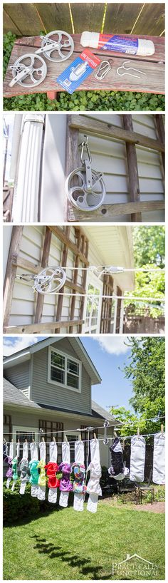 How To Make A Clothesline 43 Best Diy Laundry Drying Structures Images On Pinterest