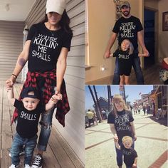Family Matching Outfits Casual T-shirt Mother Father Daughter Son Girl Kids Tops Hello! Mom And Son Outfits, Matching Family Outfits, Cute Outfits, Matching Clothes, Matching Shirts, Toddler Outfits, Girl Outfits, Mommy And Son, Mom And Dad
