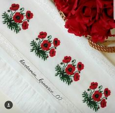 Cross Stitch Borders, Cross Stitch Flowers, Baby Embroidery, Baby Knitting Patterns, Diy And Crafts, Creative, Simple Cross Stitch, Bath Towels & Washcloths, Face Towel