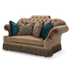 AICO Furniture - Grand Masterpiece Loveseat - 9050825-ANGLD-402