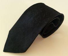 Ambiance Neck Tie Black Solid Textured  #Ambiance #NeckTie