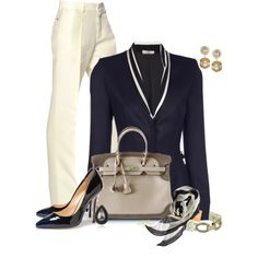 Navy and Cream for Early Fall Contest, created by kginger on Polyvore