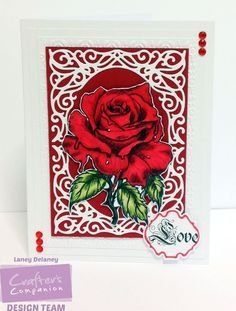 "5x7 card made using Crafter's Companion Sheena Douglass ""A little bit Sketchy"" Rock stamp  coloured with Spectrum Noir Pens:  DR 1,3,5,7 DG2,3,4 JG6 BT1 Designed by Laney Delaney. #crafterscompanion"
