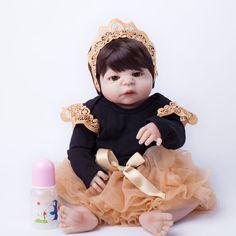 55 cm de Corpo Inteiro Silicone Boneca Reborn Brinquedos Bebê Realista-Renascer Boneca Princesa Criança de Aniversário Presente de Natal Meninas Brinquedos