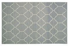 Arabesque Flat-Weave Rug, Gray on OneKingsLane.com