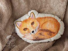 Fox pillow. Fox nursery decor. Woodland pillow. by MartaDalloul