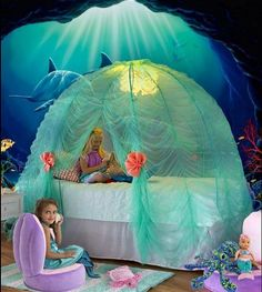 Under-the-Sea Bed Tent mermaid bedrooms underwater bedroom ideas - under the sea. Under-the-Sea Bed Tent mermaid bedrooms underwater bedroom ideas - under the sea.