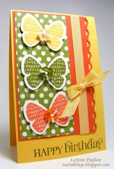 CTD104 Butterfly Prints by LeAnne Pugliese - Cards and Paper Crafts at Splitcoaststampers