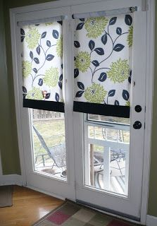 DIY Roller shade for French doors