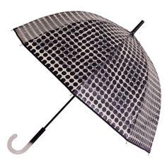 Shelta Ombre Handle POE Clear Black Spots birdcage rain umbrella  -Umbrellas & Parasols