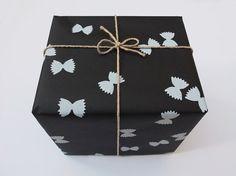 FARFALLE Handprinted Wrapping Paper black & by BombinaStudios