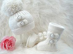 Knitting PATTERN Baby Shoes Baby Booties Baby Hat by Solnishko43