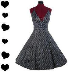 HALTER 50s Pinup FULL SKIRT Swing Party Dress XXL 1X 2X | eBay