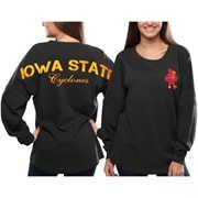 Iowa State Cyclones Women's Pom Pom Jersey Oversized Long Sleeve T-Shirt - Gray