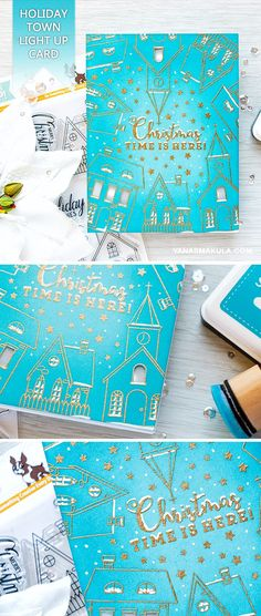 Create an interactive light up Holiday Town card with Simon Says Stamp Christmas Town stamps and Chibi Lights (Chibitronics). For details and video tutorial, please visit http://www.yanasmakula.com/?p=56057