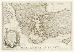 Antique Map Search Results: greece - Barry Lawrence Ruderman Antique Maps Inc. Vintage Wall Art, Vintage Walls, Greece Map, Dresser, Map Maker, Image Map, Antique Maps, Hand Coloring, Vintage World Maps