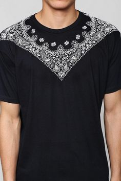 Urban Outfitters Fun Artists Bandana Tee in Black for Men