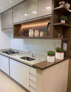Modern Kitchen Interiors, Modern Kitchen Cabinets, Contemporary Kitchen Design, Kitchen Pantry Design, Diy Kitchen Decor, Interior Design Kitchen, Home Design Decor, Küchen Design, Cuisines Design