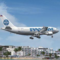 Pan Am A310 Clipper Constitution N811PA Landing At St. Maarten's Princess Juliana International Airport