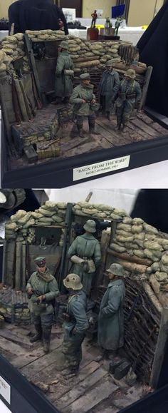 WWI 1917 diorama  (1:35 scale) Military Figures, Military Diorama, Military Art, Model Tanks, Model Hobbies, Military Modelling, World War One, Twilight Princess, Panzer
