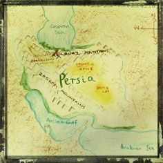 Waldorf ~ Ancient Persia ~ Map ~ main lesson book