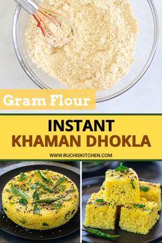 Gujarati Recipes, Indian Food Recipes, Asian Recipes, Gujarati Food, Kulfi Recipe, Dhokla Recipe, Healthy Indian Snacks, Vegetarian Snacks, Khaman Dhokla
